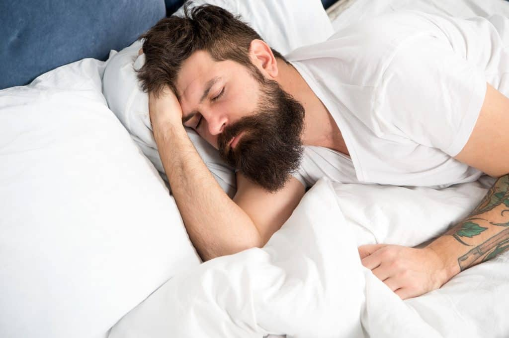 Man Lying Awake After Sleeping 4 Hours